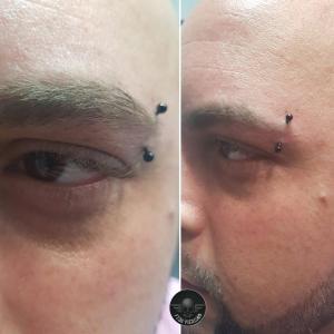 Piercing ceja realizado en nuestro centro de Montera de Madrid