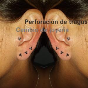 Piercing tragus realizado en nuestro centro de Vaguada de Madrid