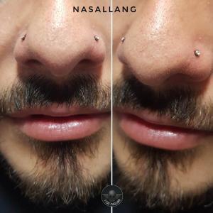 Piercing nasallang realizado en nuestro centro de Montera de Madrid