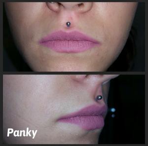 Piercing labio