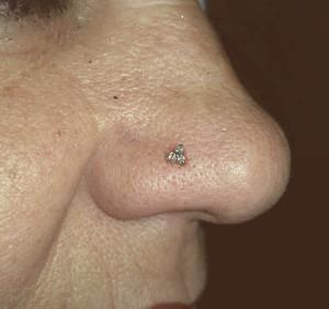 Piercing en nariz realizado en nuestro centro de La Vaguada en Madrid