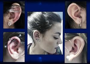 Varios piercing