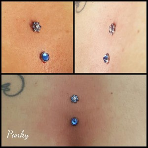 Varios piercing intradermales