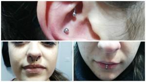 Piercing septum y rook