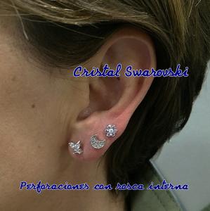 Piercing con perforación de rosa interna