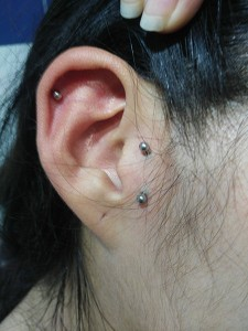 Piercing tragus surface