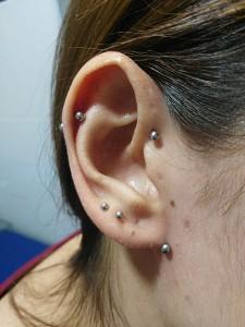 Piercing lobulo superficial (transverse lobe)