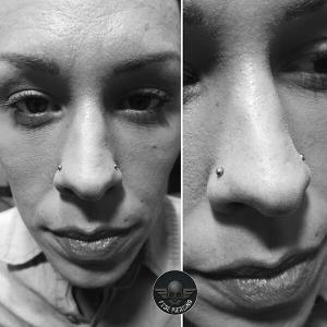 Piercing nostril realizado en nuestro centro Montera de Madrid