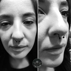 Piercing septum realizado en nuestro centro de Montera de Madrid