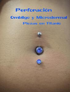 Piercing microdermal  y ombligo realizado en nuestro centro de Vaguada de Madrid