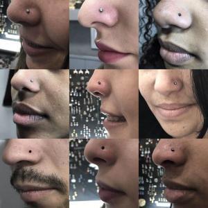 Piercing nostril realizado en nuestro centro de Vaguada de Madrid