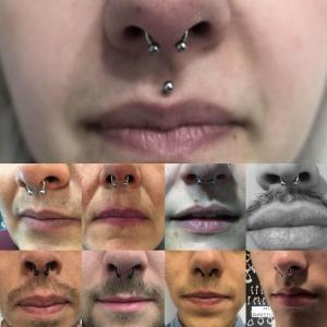 Piercing septum realizado en nuestro centro de Vaguada de Madrid