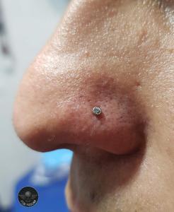 Piercing nostril realizado en nuestro centro de Montera de Madrid