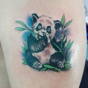 Tatuaje de oso panda
