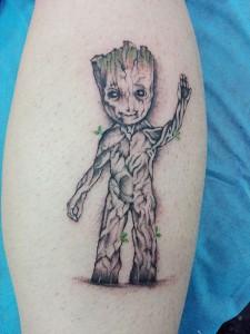 Tatuaje de hombre árbol
