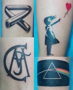 Tatuajes varios realizado en nuestro centro de Montera de Madrid