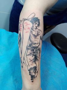 Tatuaje de ánime realizado en nuestro centro de Montera de Madrid