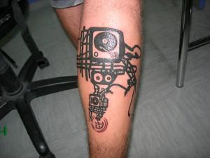 Tatuaje de tocadiscos
