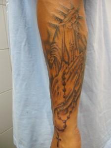 Tatuaje de la Virgen María