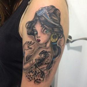 Tatuaje de reina mora