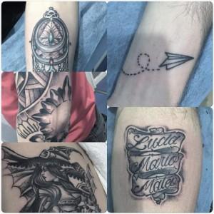 Tatuajes de lettering, avión de papel