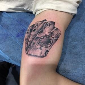 Tatuaje de cartas de póker