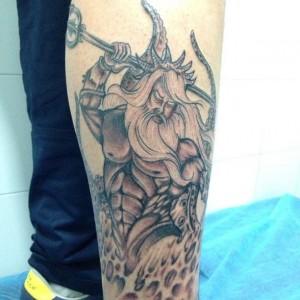 Tatuaje del dios Poseidón