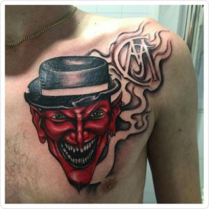 Tatuaje de cabeza diabólica