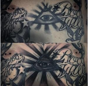 Tatuaje de ojo egipcio