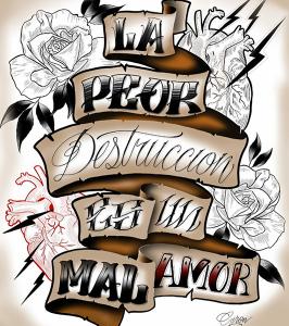 Boceto de tatuaje de lettering