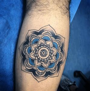 Tatuaje de mandala realizado en nuestro centro de Vaguada de Madrid