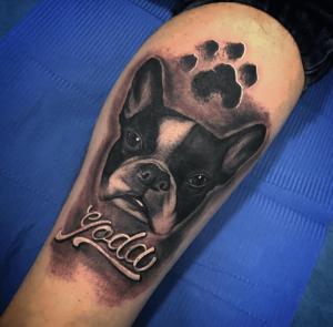 Tattoo de perro realizado en nuestro centro de Vaguada de Madrid