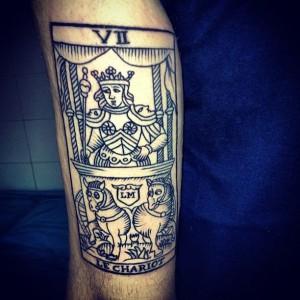 Tatuaje de carta del tarot